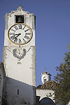 St Mary of the Castle Church and Clock Tower, Tavira, Algarve, Portugal