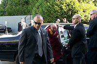His Holiness, The Dalai Lama arrives at the Vancouver Peace Summit, held at the Chan Center for the Performing Arts, Sept. 27 2009, at the  University of British Columbia campus, in Vancouver BC. (Scott Alexander/pressphotointl.com)