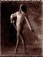 Female fencer.