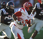 Jacksonville State's Calvin Middleton (3) runs upfield vs. Mississippi at Vaught-Hemingway Stadium in Oxford, Miss. on Saturday, September 4, 2010. Jacksonville State won 49-48 in double overtime. (AP Photo/Oxford Eagle, Bruce Newman)