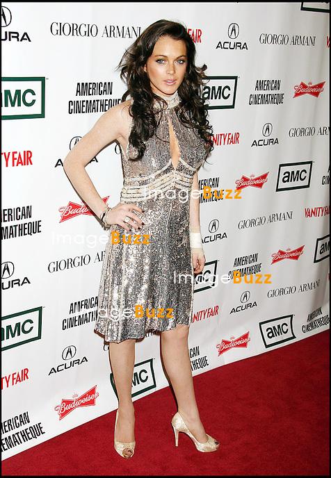 LINDSAY LOHAN AU 21 EME AMERICAIN CINEMATHEQUE AWARD A BEVERLY HILLS. 21st Annual American Cinematheque Award, Beverly Hills, California .