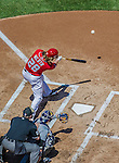 27 April 2014: Washington Nationals right fielder Jayson Werth in action against the San Diego Padres at Nationals Park in Washington, DC. The Padres defeated the Nationals 4-2 to to split their 4-game series. Mandatory Credit: Ed Wolfstein Photo *** RAW (NEF) Image File Available ***