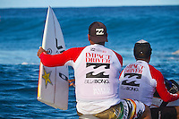 Monday August 16, 2010. The  Air Tahiti Nui Von Zipper Trials  were held today at Teahupo'o  in the south west corner of Tahiti, French Polynesia.  The surf was in the 5-'6' range and the highlight of the day was a perfect 10 point ride by Australian Anthony Walsh. Photo: joliphotos.com