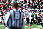 Ole Miss wide receiver Vince Sanders (10) scores vs. Arkansas at War Memorial Stadium in Little Rock, Ark. on Saturday, October 27, 2012. Ole Miss won 30-27...
