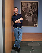 Indy Arts Award Winner: Sam Stephenson at the Nasher  Museum of Art with the Jazz Loft exhibit  he helped create from W. Eugene Smith's photo and recording archive. , Durham, NC, July 7, 2011.