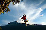 Banos, Ecuador, Adventure Destination, La Casa Del Arbol, Swing At The End Of The World, Swing Attached To Treehouse, Treehouse Used For Monitoring The Tungurahua Volcano