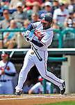 6 March 2012: Atlanta Braves outfielder Michael Bourn in action during a Spring Training game against the Washington Nationals at Champion Park in Disney's Wide World of Sports Complex, Orlando, Florida. The Nationals defeated the Braves 5-2 in Grapefruit League action. Mandatory Credit: Ed Wolfstein Photo