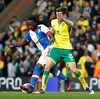 Blackburn Rovers' Marvin Emnes battles with Norwich City's Jonathan Howson<br /> <br /> Photographer David Shipman/CameraSport<br /> <br /> The EFL Sky Bet Championship - Norwich City v Blackburn Rovers - Saturday 11th March 2017 - Carrow Road - Norwich<br /> <br /> World Copyright &copy; 2017 CameraSport. All rights reserved. 43 Linden Ave. Countesthorpe. Leicester. England. LE8 5PG - Tel: +44 (0) 116 277 4147 - admin@camerasport.com - www.camerasport.com