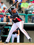 17 March 2009: Atlanta Braves' infielder Diory Hernandez in action during a Spring Training game against the New York Mets at Disney's Wide World of Sports in Orlando, Florida. The Braves defeated the Mets 5-1 in the Saint Patrick's Day Grapefruit League matchup. Mandatory Photo Credit: Ed Wolfstein Photo