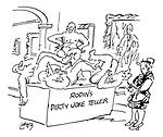 Rodin's Dirty Joke Teller