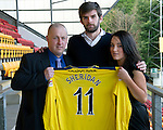 St Johnstone Players Sponsors Night, McDiarmid Park...09.05.12.Cillian Sheridan.Picture by Graeme Hart..Copyright Perthshire Picture Agency.Tel: 01738 623350  Mobile: 07990 594431
