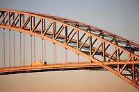 Bayonne Bridge, connects Staten Island, NY and Bayonne, NJ, bridge was designed by master bridge-builder Othmar Ammann and the architect Cass Gilbert