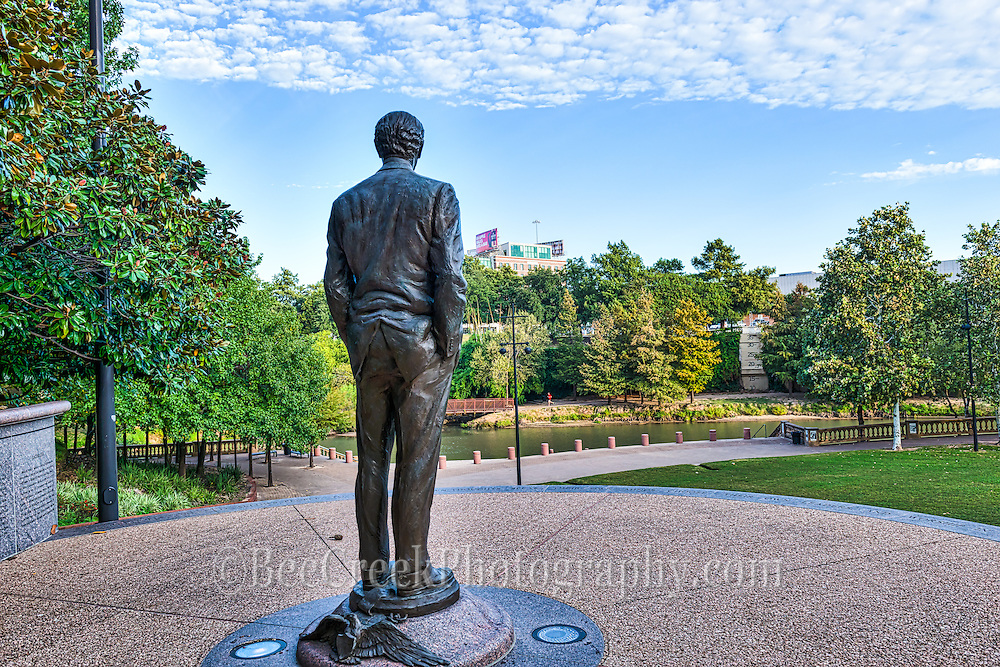 The is another staute across the Buffalo Bayou of James Baker monument in downtown Houston.  The statue is located in the Thearter district along the hike and bike trails on the buffalo bayou that runs through out the city parks. Watermark will not appear on image