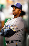 22 August 2009: Milwaukee Brewers' Bench Coach Willie Randolph watches from the dugout during a game against the Washington Nationals at Nationals Park in Washington, DC. The Brewers defeated the Nationals 11-9 in the second game of their four-game series. Mandatory Credit: Ed Wolfstein Photo