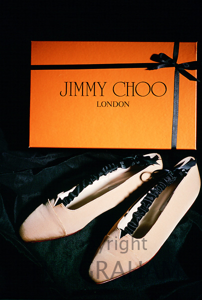 Pair of Jimmy Choo shoes and box, London, United Kingdom