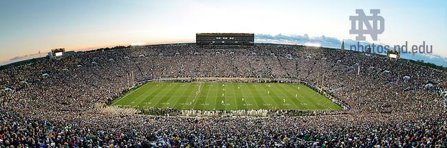 Sept. 22, 2012; Kickoff of the Michigan game...Photo by Matt Cashore/University of Notre Dame
