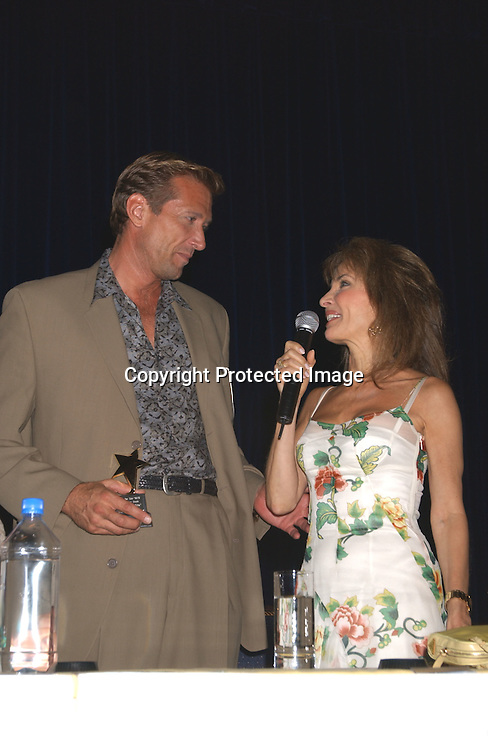 Walt Wiley and Susan Lucci                               ..at the All My Children Fan Club Luncheon on August 10, 2003 at the Marriott Marquis in New York.                           Photo by Robin Platzer, Twin Images