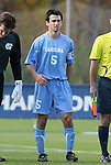 12 November 2008: UNC's Michael Callahan. The University of Maryland defeated the University of North Carolina 1-0 at Koka Booth Stadium at WakeMed Soccer Park in Cary, NC in a men's ACC tournament quarterfinal game.