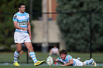 27 September 2014: North Carolina's Jack Looby (2). The University of North Carolina Tar Heels hosted the University of Virginia Cavaliers at Hooker Field in Chapel Hill, NC in a 2014-15 USA College Rugby match. North Carolina won the game 27-12.