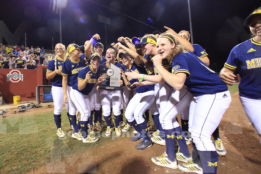 The University of Michigan Softball team win the 2015 Big Ten Softball Tournament. Columbus, OH, May 9, 2015