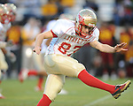 Lafayette High's Tyler Jackson (87) vs. Laurel in the MHSAA Class 4A championship game at Mississippi Veterans Memorial Stadium in Jackson, Miss. on Saturday, December 3, 2011. Lafayette won 39-29, the team's 32 straight win, to capture their second consecutive state championship.