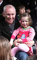 17/03/2011.Broadcaster Ray D'Arcy with daughter Kate D'Arcy (4).during the St. Patrick's Day festival in Dublin's City Centre..Photo: Gareth Chaney Collins