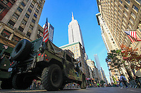 Military members and war veterans take part in the annual Veterans Day parade in New York.  10.11.2014. Eduardo Munoz Alvarez/VIEWpress