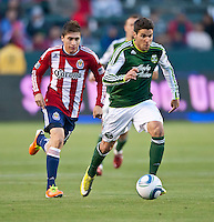 CARSON, CA – June 3, 2011: Portland Timbers midfielder Sal Zizzo (7) during the match between Chivas USA and Portland Timbers at the Home Depot Center in Carson, California. Final score Chivas USA 1, Portland Timbers 0.