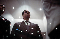 Texas State Representative Joaquin Castro, twin brother of San Antonio Mayor Julian Castro, waits for his turn to speak during a function for the Democratic candidate for Texas governor Bill White, Wednesday, Sept. 22, 2010, at Edgewood High School in San Antonio. (Darren Abate/pressphotointl.com)