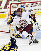 Patrick Brown (BC - 23) - The Boston College Eagles defeated the visiting Merrimack College Warriors 3-2 on Friday, October 29, 2010, at Conte Forum in Chestnut Hill, Massachusetts.