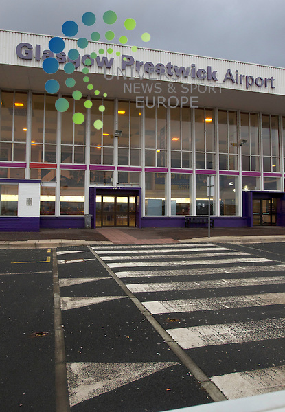 """The European airline Wizz is switching two of its services from Gdansk and Warsaw from Prestwick to Glasgow Airport. Wizz Air said the move to Glasgow would be more """"convenient"""" for existing customers and was a """"a step towards future passenger and route growth"""". The carrier began operating flights between Scotland and Poland more than six years ago. It leaves Ryanair as the only scheduled passenger airline using Prestwick. The move will happen at the beginning of March. Prestwick Airport. Universal News And Sport (Scotland). 28 January 2013 www.unpixs.com."""