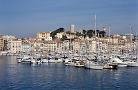 View of the harbour in Cannes