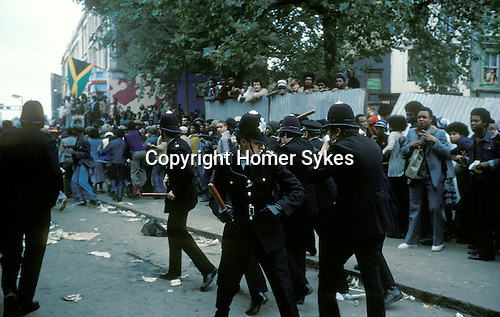 Notting Hill Carnival Riot 1976 Bank Holiday Monday.