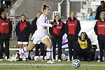 02 November 2012: Maryland's Becky Kaplan scores the game's second goal on a breakaway. The Wake Forest University Demon Deacons played the University of Maryland Terrapins at WakeMed Stadium in Cary, North Carolina in a 2012 NCAA Division I Women's Soccer and Atlantic Coast Conference Tournament semifinal game. Maryland won the game 2-0.