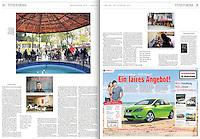 WELT AM SONNTAG<br /> (Germany)<br /> <br /> (At left, top and bottom) So etwas wie Alltag: In Kilis, wo sich auch das grosste Lager fur syrische Fluchtlinge befindet, geht auch das normale Leben weiter; Kilis ist Anlaufpunkt fur viele, die nach Syrien wollen.  (At right, top) Kiliser Tristesse: Vor dem krieg hat sich hierhin kein Tourist verirrt.<br /> <br /> &quot;Hotel Wahnsinn (Hotel Madness),&quot; p. 20-21<br /> April 7, 2013.