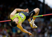 EUGENE, OR--Tora Harris wins the high jump with a mark of 2.30 at the Steve Prefontaine Classic, Hayward Field, Eugene, OR. SUNDAY, JUNE 10, 2007. PHOTO © 2007 DON FERIA