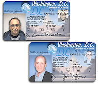 Fake driver's licenses.