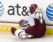 Tommy Cross (BC - 4) sprained his left knee and is expected to be out 3-6 weeks. - The Boston College Eagles defeated the visiting Merrimack College Warriors 3-2 on Friday, October 29, 2010, at Conte Forum in Chestnut Hill, Massachusetts.