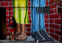 TIJUANA, MEX-:  A prostitute waits for customers near Calle Avenida Revolucion inTijuana, Mexico.