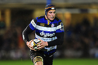 Paul Grant of Bath Rugby in possession. Anglo-Welsh Cup match, between Bath Rugby and Gloucester Rugby on January 27, 2017 at the Recreation Ground in Bath, England. Photo by: Patrick Khachfe / Onside Images