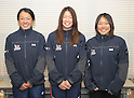 (L to R) Sayoko Harada, Manami Doi, Saki Matsunae, FEBURARY 12, 2012 - Sailing : 2012 Int Laser Radial Class Japan National team and the World Championship team selection race, at Hayama, Kanagawa, Japan. ..(Photo by Atsushi Tomura/AFLO SPORT) [1035]