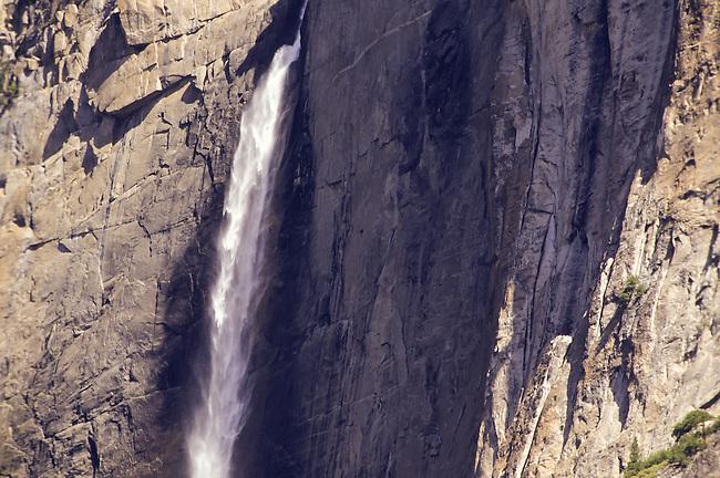 Close up of Yosemite Falls in Yosemite National Park, California, USA