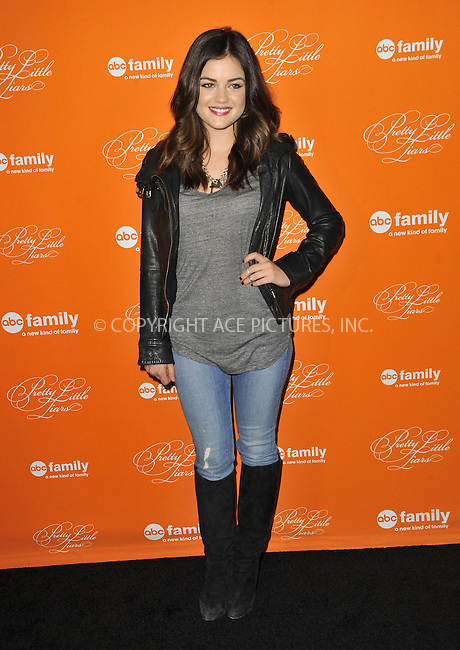 WWW.ACEPIXS.COM....October 16 2012, LA.... Lucy Hale arriving at ABC Family's 'Pretty Little Liars' Halloween Episode Premiere at Hollywood Forever on October 16, 2012 in Hollywood, California. ......By Line: Peter West/ACE Pictures......ACE Pictures, Inc...tel: 646 769 0430..Email: info@acepixs.com..www.acepixs.com
