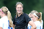 01 September 2013: Duke's Meghan Thomas. The Duke University Blue Devils played the University of New Mexico Lobos at Fetzer Field in Chapel Hill, NC in a 2013 NCAA Division I Women's Soccer match. Duke won the game 1-0.