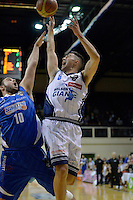 Brook Ruscoe in action during the NBL Final Four - Saints v Giants at TSB Bank Arena, Wellington, New Zealand on Friday 4 July 2014. <br /> Photo by Masanori Udagawa. <br /> www.photowellington.photoshelter.com.