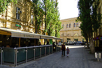 Azerbaijan, Baku. A cafe in central Baku.