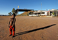Young Boy at an Outback Gas Station,Central Australia,Barrow Creek N.T.