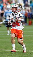 Virginia Cavaliers (24) passes the ball during the game against the Johns Hopkins in Charlottesville, VA. Johns Hopkins defeated Virginia 11-10 in overtime. Photo/Andrew Shurtleff