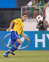 Brazil midfielder Paulo Henrique Ganso (10). Brazil  defeated the US men's national team, 2-0, in a friendly at Meadowlands Stadium on August 10, 2010.
