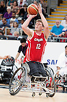 LONDON, ENGLAND 30/08/12: Patrick Anderson competes in the Men's Wheelchair Basketball preliminary round CAN vs. JPN at the London 2012 Paralympic Games at the Basketball Arena (Photo by: Courtney Pollock/Canadian Paralympic Committee)